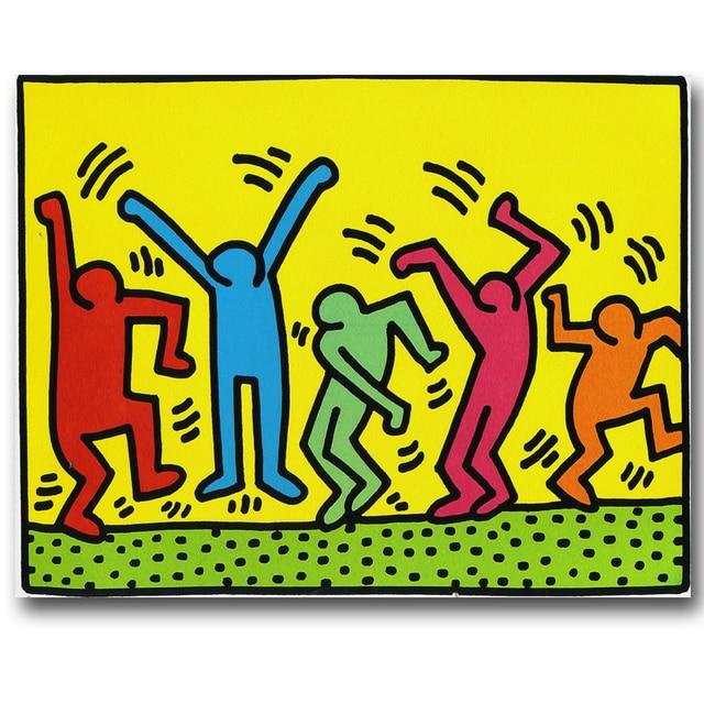 Pop Art Keith Haring peinture abstraite affiche impression