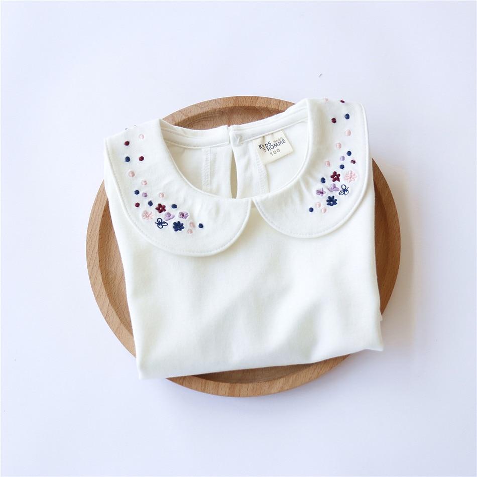 Jesen Modna odjeća za djecu Bijela udobna pamuk Slatke male djevojke - Dječja odjeća - Foto 4