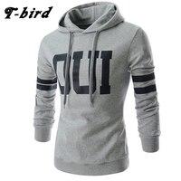T Bird 2017 Hoodie Men Letter 3D Printing Hip Hop Sweatshirt Autumn Winter Brand Cotton Mens