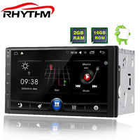 Rhythm 2 din android 6.0 car radio auto car stereo multimedia player universal GPS Navigation 1024*600 remote control