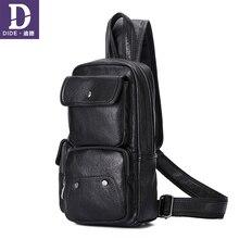 DIDE High Quality Cross Body Bags Messenger Pack Men's Shoulder Bag Male bag ipad Messenger Bag Leather Men Chest Pack