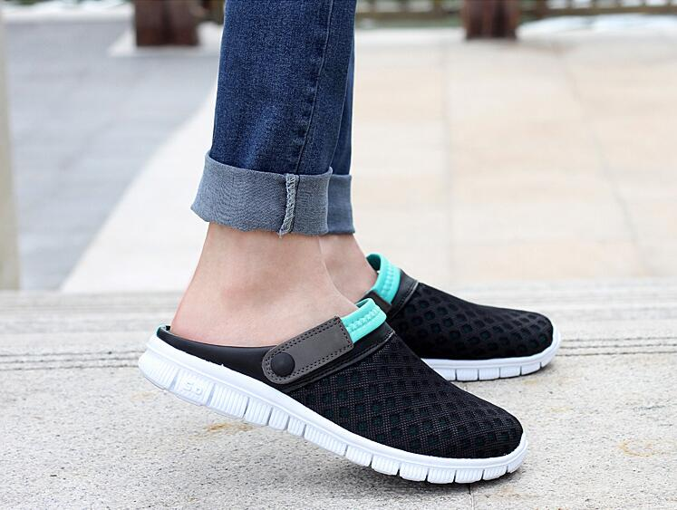 2018 New Breathable Mens Summer Shoes Sandals Men Slippers black blue Casual Shoes Outdoor Slip On Shoes Beach Flip Flops2018 New Breathable Mens Summer Shoes Sandals Men Slippers black blue Casual Shoes Outdoor Slip On Shoes Beach Flip Flops