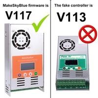 60A MPPT Solar Charge Controller Regulator V117 for 12V 24V 36V 48V DC MakeSkyBlue Quality LCD With Client's Application Video