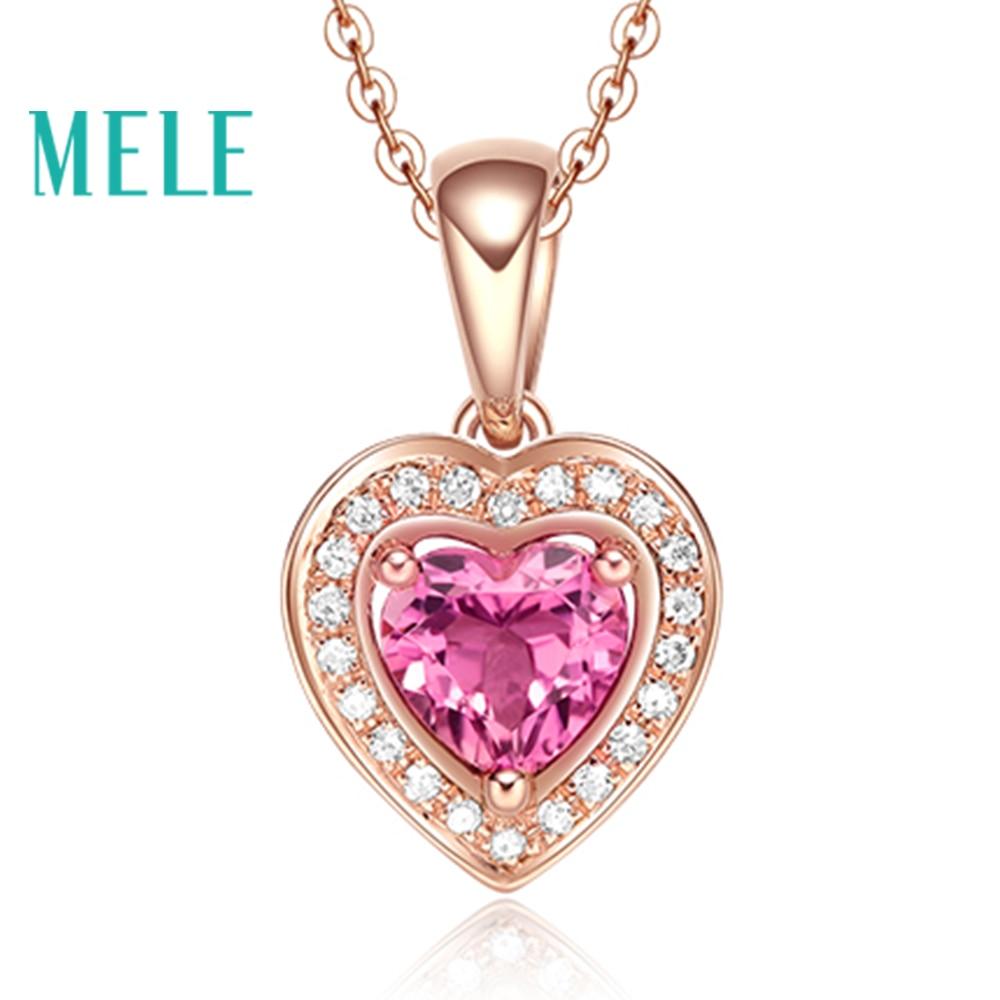 natural red tourmaline 18K gold diamonds wedding pendant for women,heart cut fashion and beaut wiht high quality недорго, оригинальная цена