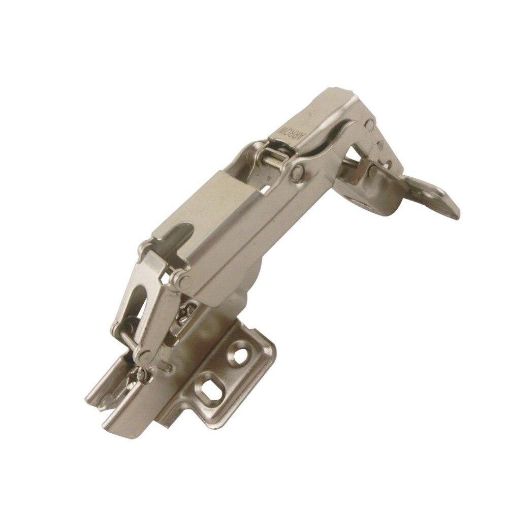 Us 1144 18 Off2 Stks Soft Close Kast Deur Scharnier Stalen Meubelen Armaturen Hoek Scharnier Fit Voor 14mm Dikte Deur Scharnieren Voor Keuken