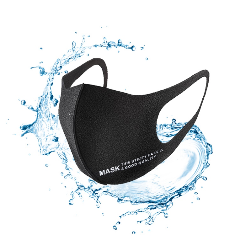 3D Anti-haze Black Mouth Mask Adult Mask Ear Hanging Windproof Dust-proof Washable Reusable Anti Flu Dust Masks Health Care