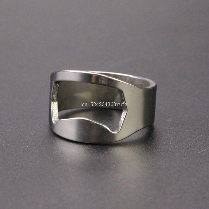 1000pcs Beer Openers Finger Ring Ring Shape Beer Bottle Opener Bar Tools Stainless Steel Material Inner