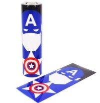 Leiqidudu 18650 батареи защищены <font><b>wrapper</b></font> Super Hero внешний аккумулятор для электронной сигареты батареи электронной сигареты Человек-паук капитан Халк
