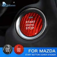 Velocità per Mazda Axela Atenza CX-3 CX-4 CX-5 CX-8 MX-5 Accessori Adesivo In Fibra di Carbonio Assetto Interno Pulsante di Avviamento Motore Auto
