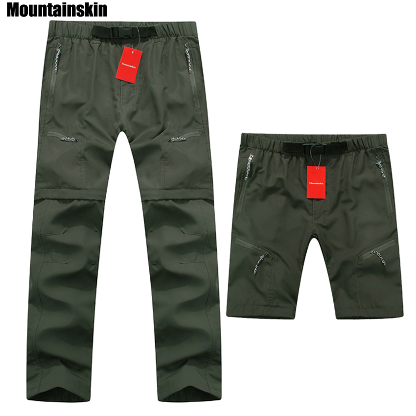 Mountainskin High Quality Removable Men's Summer Quick Dry Pants Breathable Trousers Outdoor Sports Hiking Trekking Pants RM068