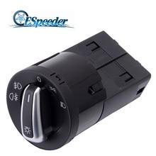 ESPEEDER Headlight Light Switch Fog Control Fit VW Golf Jetta Passat B5 Beetle Polo Sharan OEM 3BD 941531