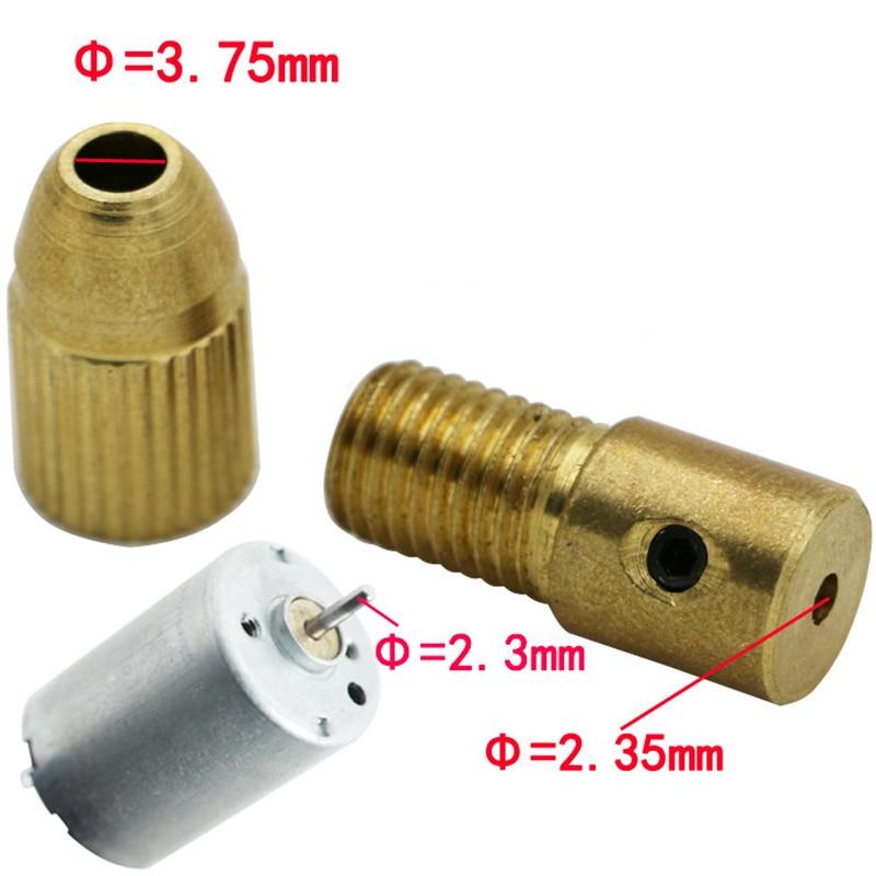 mini mandrino trapano senza chiave adattatore micro trapano pinze - Punta da trapano - Fotografia 3