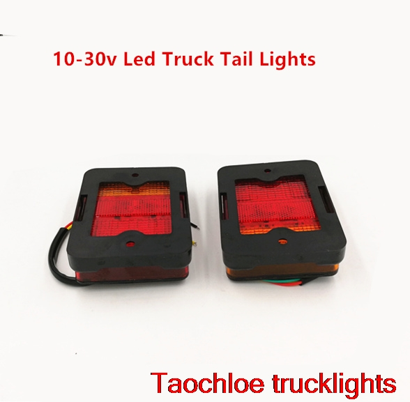 Led Lights For Tractor Trailers : Pair v led taillight truck car lorry