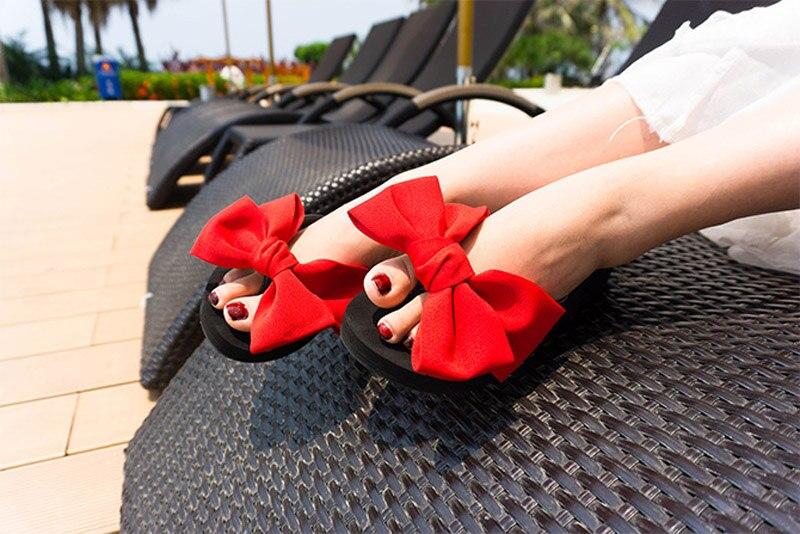 2018 New Flip Flops Fashion Solid Women Shoes EVA Platform Slip on Summer Slipppers Shoes Women Big Bow Decoration Sandals Woman (17)