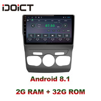 IDOICT Android 8.1 IPS Screen 2G+32G Car DVD Player GPS Navigation Multimedia For Citroen C4 Radio 2013 2016 car stereo