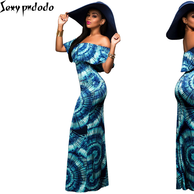 Flounced Chest Wrapped Long Dress Womens Elegant Vintage Sexy V Neck Printed Charming Fit and Flare Casual Party Prom Maxi Dress