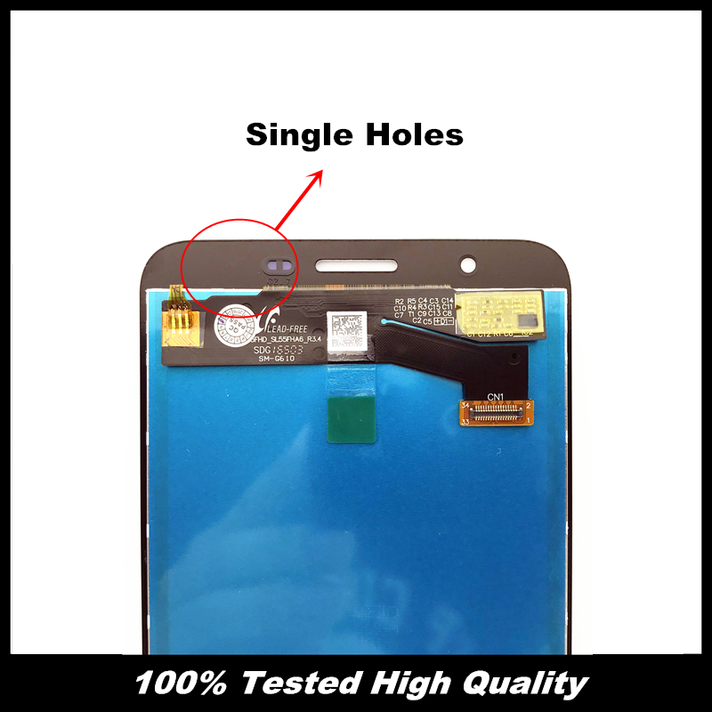 US $15 65 56% OFF|Replacement Tested LCD For Samsung Galaxy J7 Prime G610  G610F On7 2016 G6100 Display Touch Screen Digitizer Single/Double Holes-in