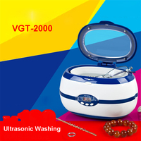 VGT 2000 Ultrasonic Cleaner LED Ultrasonic Washing Machine 35 W power 110V/220V Ultrasonic Bath Ultrasonic Cleaner blue/gray