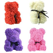 2019 Hot Sale 40cm Soap Foam Bear of Roses Teddy Bear Rose Flower Artificial New Year Gifts for Women Valentines Gift Christmas