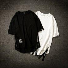 Streetwear Cotton Men T-shirt Half Lengt