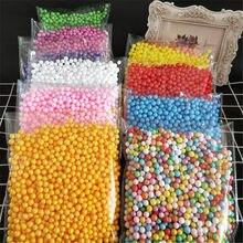 7-9mm Polystyrene Styrofoam Plastic Foam Mini Beads Ball DIY Assorted Colors Decorate 2000pcs