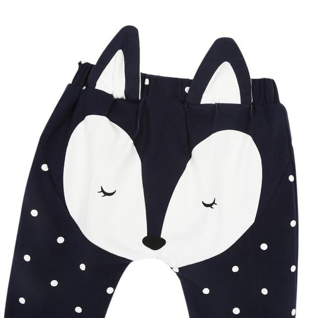 Fox Pattern Baby Pants