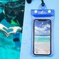 Универсальная Водонепроницаемая подушка безопасности  плавающий чехол для телефона  сумка для сухого дайвинга с повязкой на руку и шейным ...