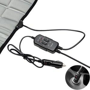 Image 5 - Otomobil koltuğu elektrikli ısıtmalı araba koltuk minderi ped ısıtıcı isıtıcı kış kaynağı siyah gri
