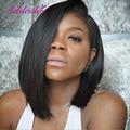 Cheap Short Bob U Part Wigs For Black Women Brazilian Remy Virgin Hair 12Inch 130Density Natural Color 1.5*4 Left Parting