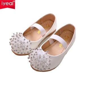 9726c25da73b IYEAL Children Shoes 2018 New Fashion Girls Baby Leather Shoes Kids Girls  Princess Rhinestone Shoes Dance Shoes Size 26-36