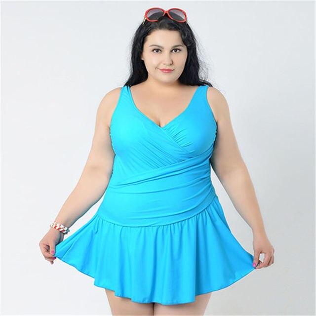 623b4e08fa926f INSTOCK 2017 XXL-6XL Sexy plus size Jednoczęściowy Strój Kąpielowy sukienka  Kobiet jednoczęściowy Strój Kąpielowy