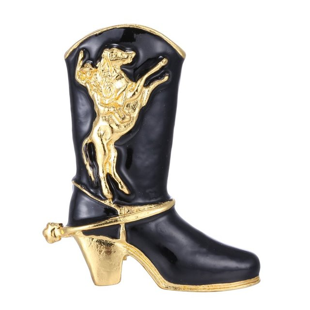 รองเท้าสีดำเข็มกลัดรองเท้า Pins คริสต์มาสของขวัญเครื่องประดับสวยงามสำหรับผู้หญิงเด็กเครื่องแต่งกายอุปกรณ์เสริม