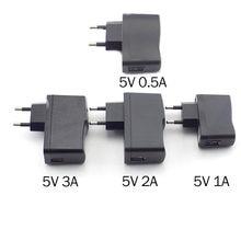 Chargeur Micro USB 5V, 0,5 a, 1a, 2a, 3a, chargeur mural ca à cc, alimentation 100V-240V, sortie pour bande lumineuse