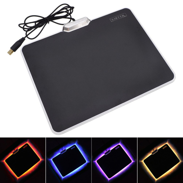 Xibter Color Lighting Mouse Pad Black Matte Surface Non slip Rubber ...