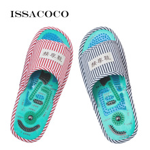 ISSACOCO Acupressure Slippers Home Acupoint Massage Foot Shoes Women Indoor