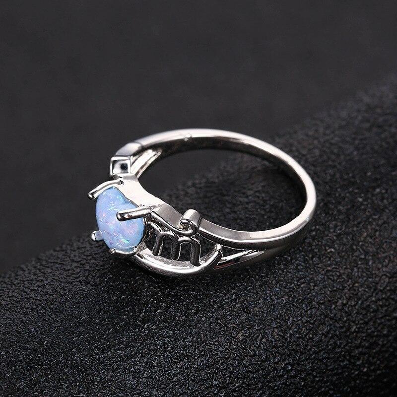 04b7d8aec63 Anel Da Forma das mulheres Do Amor Do Coração em forma de Opalas Jóias  Anéis Proposta do Aniversário do Natal Presente do Dia das Mães em Anéis de  Jóias ...