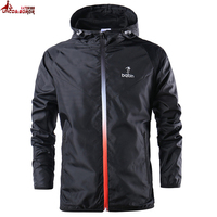 New Spring Summer Mens Fashion Outerwear Windbreaker Men S Thin Jackets Hooded Casual Sporting Coat Size