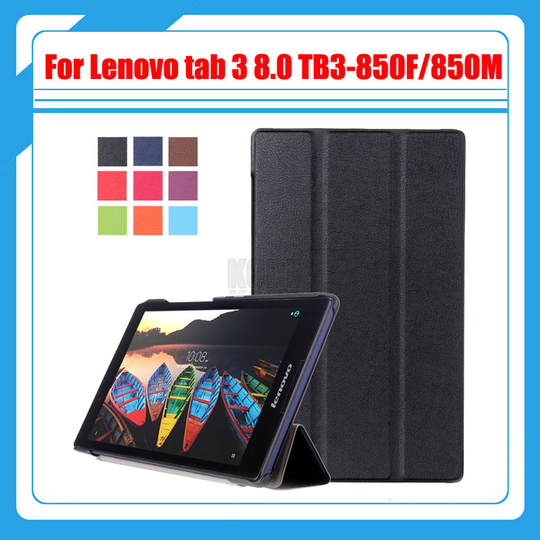 3in1 cover for Lenovo tab 3 8.0 TB3-850F/850M 850X 2016 new tablet case for lenovo tab 3 8'' case+screen protector film+stylus 3 in 1 new ultra thin smart pu leather case cover for 2015 lenovo yoga tab 3 850f 8 0 tablet pc stylus screen film