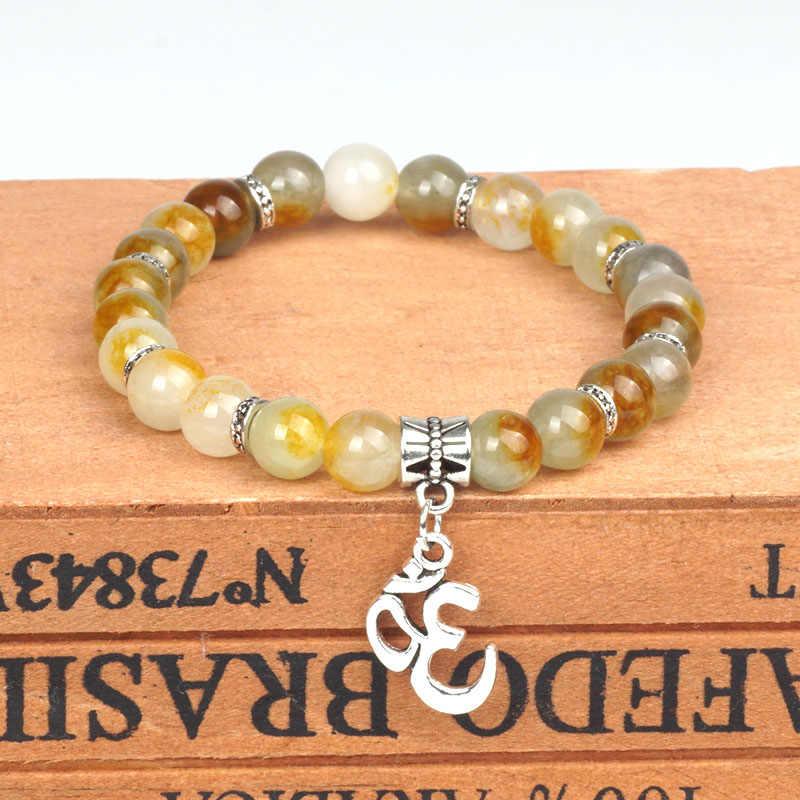 Naturalne Jasper klejnot kamień koraliki fioletowy bransoletka kwarcowa Charms koralik 8mm Jade do islamska muzułmańska modlitwa bransoletka bransoletka joga prezent