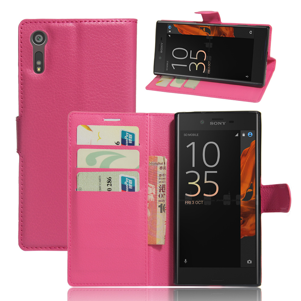 Fashion Wallet PU Leather Case Cover for Sony Xperia XZS Flip Protective Phone Back Shell Visa Card Slot For Sony Xperia XZ visa