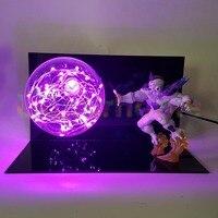 Dragon Ball Z Freeza Led Night Lights Bulb Lamp Anime Dragon Ball Z Freeza Power Pink DIY Led Light Christmas Decorations