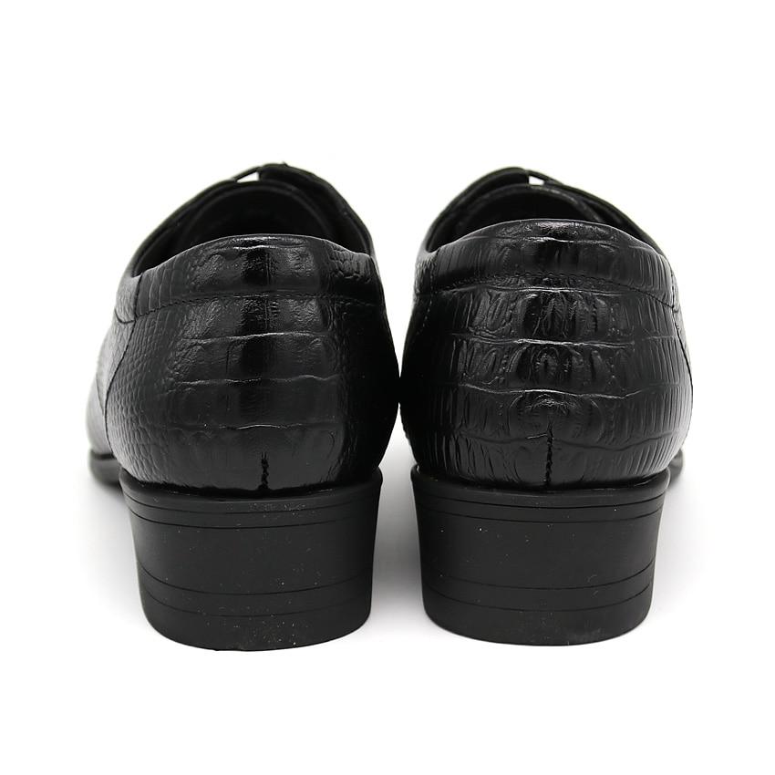 BIMUDUIYU Krokodil Stil Männer Business Kleid Schuhe Aus Echtem - Herrenschuhe - Foto 5