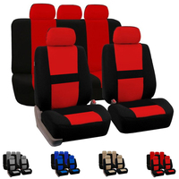 Dewtreetali Full Set Car Seat Cover 9pcs Set Seat Protector Polyester Universal Automobiles Seat Covers Interior