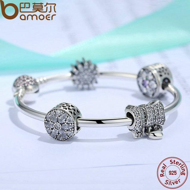 Sterling Silver Knot Heart Charm Bangles Bracelet