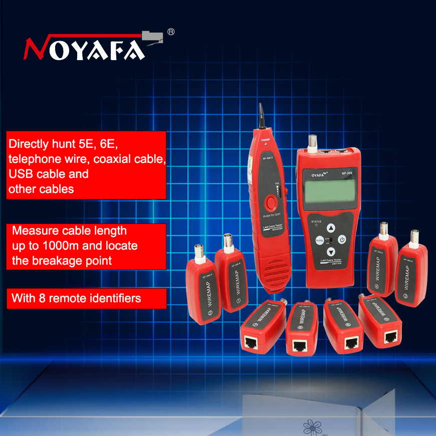 NF 388 Network coax Handheld cable tester Ethernet Wire tester Telephone Multifuctional Remote Cable Tester Tracker