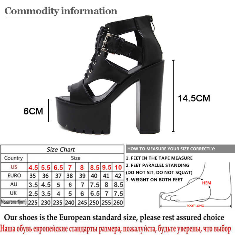 a1728fc04 ... Gdgydh 2018 New Summer Gladiator Sandals Women Platform Spring Extreme High  Heels Fashion Buckle Women's Shoes