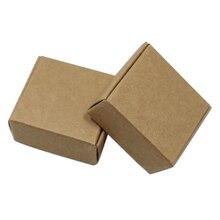 20 шт./лот крафтовые упаковочные коробки для ювелирных изделий Бумага доска DIY подарки упаковочная коробка Свадебная вечеринка подарочная упаковка Craft бумажная мыльница