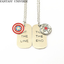 Фэнтези Вселенная 20 шт. набор Капитан Америка Зимний Солдат Сокол Сэм Вилсон ожерелье SQXXXDID02