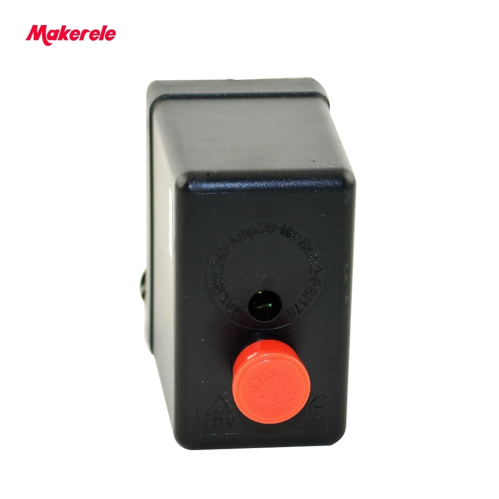 Small Air Compressor Pressure Switch Control Heavy Duty Control Valve 1Port MK-ACPS02 High Quality 240V 20A 50Hz 8.0 Kgf/cm3 heavy duty air compressor pressure control switch valve 90 120psi 12 bar 20a ac220v 4 port 12 5 x 8 x 5cm promotion price