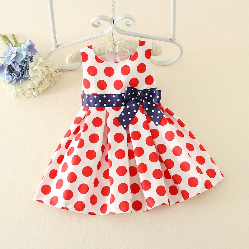 Children's Vintage Polka Dot Sleeveless Pleated Tutu Dress Princess Party Ball Gown Girls Sundress vestido de festa infantil girls party dress elsa anna princess costume christmas winter cinderella cosplay vestido long kids tutu festa infantil ball gown